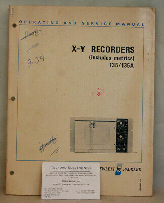 HP135/135A X-Y Recorders (Includes Metrics) Operating & Service Manual
