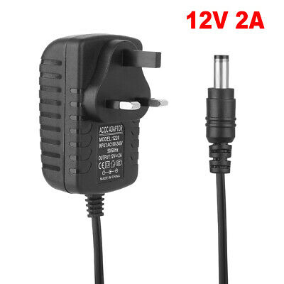 12V 2A AC/DC Adapter Charger UK Plug Power Supply For LED Strip CCTV Camera