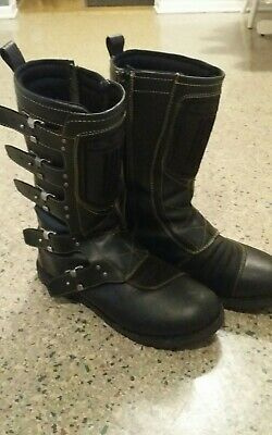 Icon 1000 Elsinore Motorcycle Boots Black 11.5