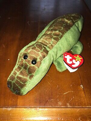 235933e2ec6 TY BEANIE BABY - ALLY the Alligator (4th Gen hang tag) (10 inch ...