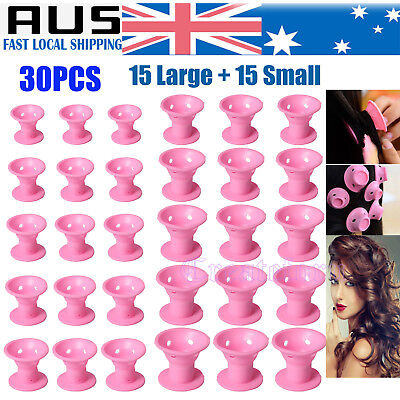 30PCS DIY Magic Hair Curler Silicone Curlers Formers No Clip Heat Styling ToV5