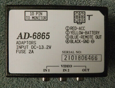 AD-6865 Video Adaptor for In Car Entertainment System