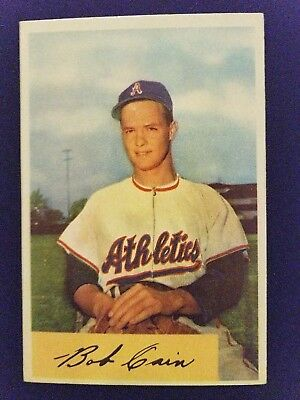 1954 Bowman Baseball Card 195 Bob Cain Philadelphia Athletics