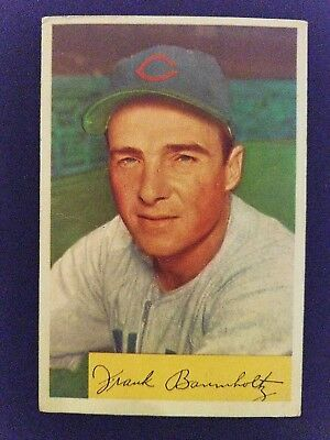 1954 Bowman Baseball Card 221 Frank Baumholtz Chicago Cubs