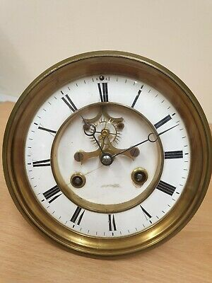 8 Day French Jewelled Visible Escapement Movement for Spares or Repair by Roblin