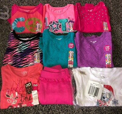 3 Toddler Little Girl Shirts And Pant lot. NWT. (10A)