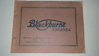 Extremely  Rare  1928  Blackburne Vintage/Veteran motorcycle engine catalogue!!