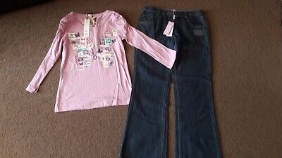 Lovely Girls Monsoon Jeans And Marks And Spencer Top Brand New 11-12 Years