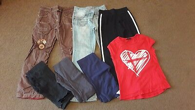 Lovely Girls Clothes Bundle Mostly Trousers inc Next Marks And Spence 8-9 Years