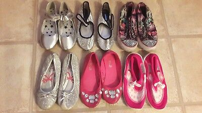 6 Pairs Of Girls Shoes Inc Skechers Size 1