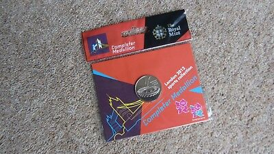 Genuine Completer Medallion London 2012 50P Sports Collection Royal Mail Sealed