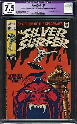 Silver Surfer #6 CGC 7.5 (R) Giant Buscema Brunner 1st & Origin Overlord Watcher