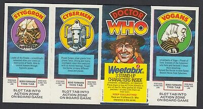 Weetabix  1977 Doctor Who 4 joined Trade Cards