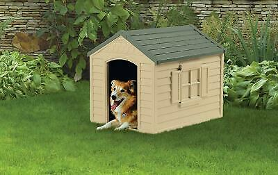 All-Weather X-Large Outdoor Pet Dog House Shed Shelter Durable Resin Home Cove