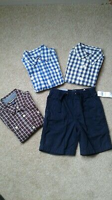 Baby boys Bundle of Baby Gap Trousers 2yrs Nwt.And 3 Shirts 18mths-2yrs used
