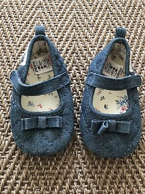 Next Baby Girl Shoes - Size 2, 6-12mths