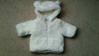 Morris Mouse Baby Girls Fur Jacket .Newborn.