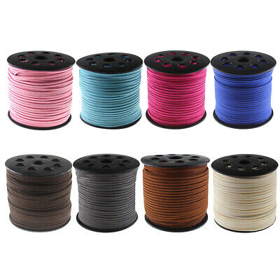 3mm Suede Cord Velvet Leather Cord String Thread Rope for Packing Wrapping