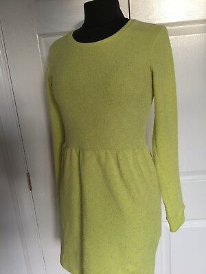 6a5fa0a067 Neon Yellow Bright Long Sleeved Topshop Skater Dress Size 10 Blogger Zara  Group