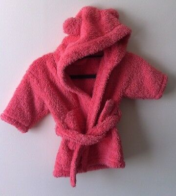 Next baby Pink dressing gown with hood 9-12 months