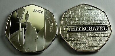 JACK THE RIPPER Silver Commemorative Coin Albums/50p Collectors. Whitechapel