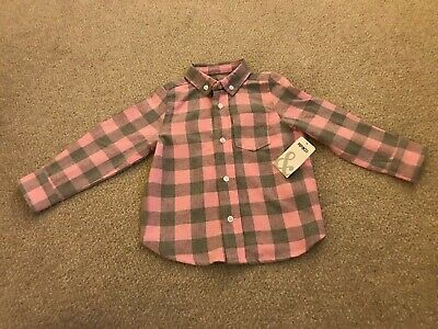 New Baby Girls Pep & Co Check Shirt 18-24 Months