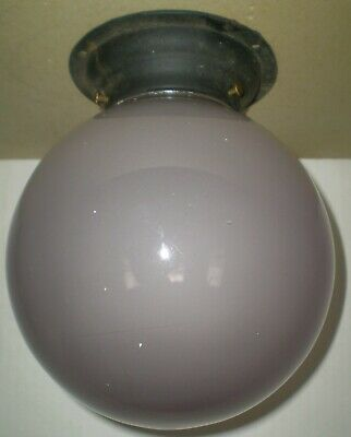 Antique Large Sun Purple Porch Light Fixture Lamp Parts