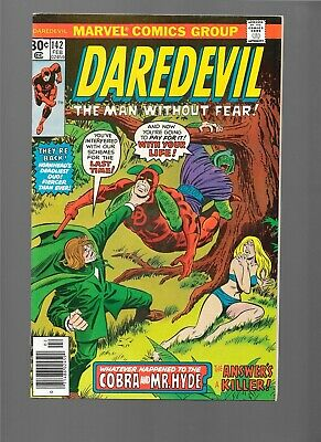1977 Marvel Comics DAREDEVIL #142 Bullseye app Nova Richard Rider Mr. Hyde VF/NM