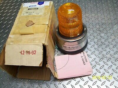 New Hubbell Amber Signaling Device Indoor /outdoor 120V , Gfs-1-A-A1