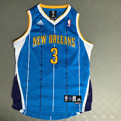 Adidas New Orleans Hornets Chris Paul Basketball Jersey Sewn Stitched Youth  M b11d638e6