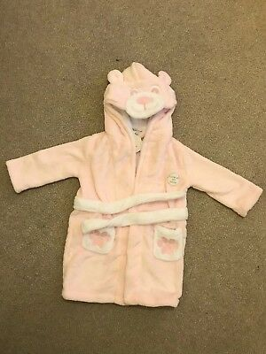 New Baby Girls 12-18 Months Baby Town Dressing Gown Supersoft Plush Fleece