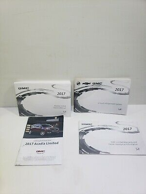 2017 Gmc Acadia Limited  Owners Manual Infotainment (Oem)  Free Shipping