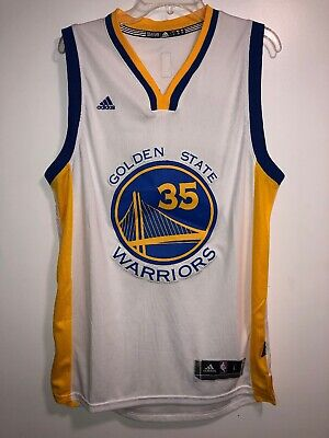 Golden State Warriors Kevin Durant 35 Adidas Swingman Jersey White Size  Large 05f38706d