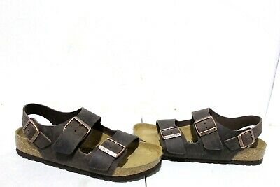 01c49b709372 F1-684 Birkenstock Milano Leather Sandals Habana Oiled Leather SZ7