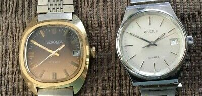 Lot of 4 Vintage & Modern Wrist Watches - 3 Mens & 1 Lady