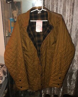 fa84e4292 THE NORTH FACE Fort Point Insulated Reversible Jacket Quilted Plaid Gold  XXL New
