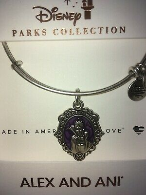 Disney Alex & and Ani Evil Queen Deliciously Wicked Silver Bracelet