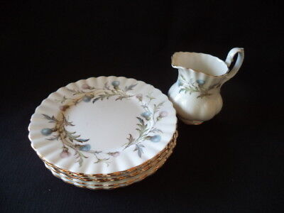 Royal Albert 'Brigadoon' Cake Plates + Cream Jug