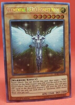 Yugioh Elemental Hero Honest Neos BLRR-EN079 Secret Rare 1st Edition