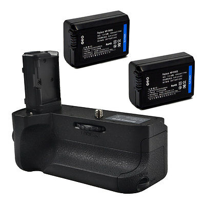 Vertical Battery Grip Holder for Sony A7II A7RII A7M2 Camera+ 2x NP-FW50 Battery
