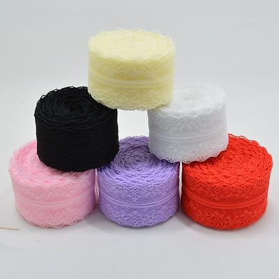 10 Yard 4cm Wide Embroidered Net Floral Lace Trim Ribbon Sewing Wedding Wholesal