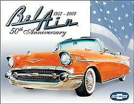 Chevy Bel Air 50th Anniversary Vintage Tin Metal Sign Garage/Man Cave Wall Art