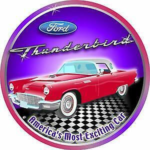 Ford Thunderbird Vintage Tin Metal Sign Garage/Man Cave Wall Art