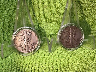 1941-P & 1941-D - Walking Liberty Half Dollars In Air-Tite Holders