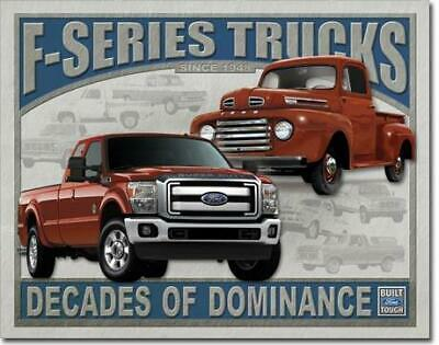 Ford F-Series Trucks Vintage Tin Metal Sign Garage/Man Cave Wall Art