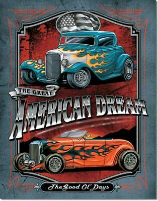 The Great American Dream Vintage Tin Metal Sign Garage/Man Cave Wall Art