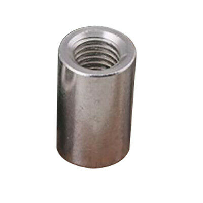 Industrial Nut ROUND Nuts Rod Connection Silver Stainless Steel Fastener SS M5