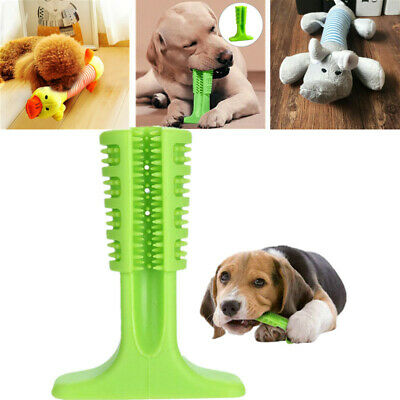 Pet Silicone Clean Teeth Brushing Stick Toy Mouth Chewing Clean Dog Toothbrush