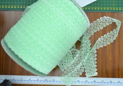 30 Metres of Uni-Trim Feather Edge Eyelet Lace, 37mm Wide, MINT