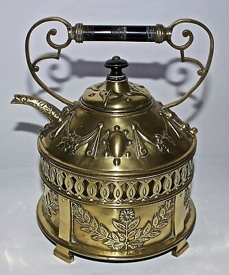 Christopher Dresser Arts And Crafts Brass Kettle On Stand